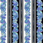 Catitude Singing the Blues 10261 99 Pearlized Stripe Benartex