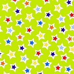 Air Show 1217 60 Lime Green Stars, Henry Glass