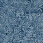 Pine Leaf French Blues 121804520 Island Batiks