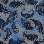 Prairie Skies 121922513 Tossed Feathers Blue Island Batiks