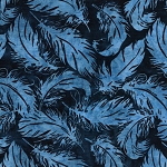 Prairie Skies 121922580 Tossed Feather Ocean Island Batiks