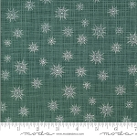Juniper Frost 13204 16 Green Snowflakes Kate and Birdie Moda