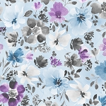 Awakenings 13402 496 Blue Large Floral Allover Wilmington Prints