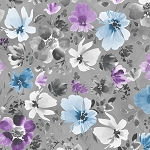 Awakenings 13402 996 Grey Large Floral Allover Wilmington Prints