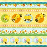 Busy Bees 1416 44 Bee Stripe, Henry Glass