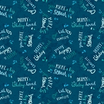 Whaley Loved 17056 474 Navy Word Toss Wilmington Prints