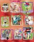 Party Animals 17318 34 Inch Digital Panel 3 Wishes