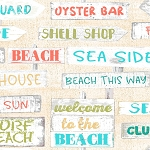 Beach Travel 17337 Cream Signs 3 Wishes