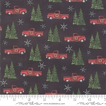 Homegrown Holidays 19442 17 Black Truck Trees, Deb Strain by Moda