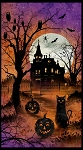 Frightful Night 20501 896 Haunted House Panel Wilmington Prints