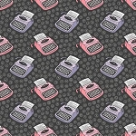 Literary Collection 21190526 4 Charcoal Typewriters Camelot Fabrics