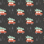 Reindeer Lodge 21191702 2 Charcoal Rustic Holiday Camelot Fabrics