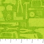 Nuts and Bolts 21584 72 Green Tonal Tools, Northcott