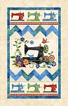 Stonehenge A Stitch in Time 2018 Primary Brights 22098 99 Sewing Machine Panel, Northcott