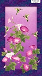 Morning Glory Shimmer 23319M 88 Floral Panel, Northcott