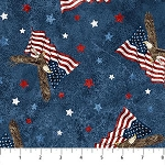 Stonehenge Stars and Stripes 8 23460 49 Blue Eagles Flags, Northcott