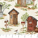 Natures Calling 24035 12 Allover Outhouses Northcott