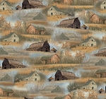Wild Pheasants 24535 X Multi Barns and Houses, Quilting Treasures