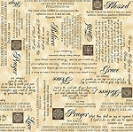 Heavenly Words 24571 E Cream, Quilting Treasures
