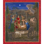 Holy Gatherings 24601 X Nativity Scene Panel, Quilting Treasures