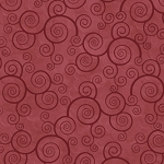 Harmony Curly Scroll 2478 RT Paprika Quilting Treasures
