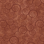Harmony Curly Scroll 24778 T Terracotta Quiting Treasures