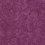Harmony Curly Scroll 24778 VM Plum Velvet Quilting Treasures