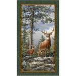 Deer Mountain 24790 G Deer Panel, Quilting Treasures