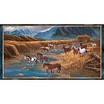 Sundance 24794 X Mountain Horse Panel, Quilting Treasures