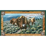 Where the Buffalo Roam 24988 X Bison Panel, Quilting Treasures