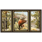 Mountain Elk 25808 X Elk Panel, Quilting Treasures