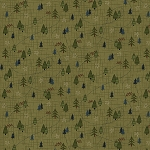 Folk Art 4 Flannel 2586F 66 Trees Forest Henry Glass