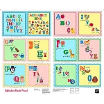 Sew and Go II Alphabet 26169 X Book Panel, Quilting Treasures