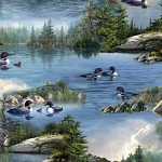 Hautman Bros Artwork Loons 27428 B Scenic, Quilting Treasures