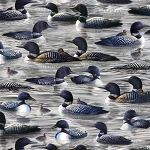 Hautman Bros Artwork Loons 27430 K Grey Loons, Quilting Treasures