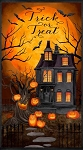 Haunted Night 27585 892 Haunted House Panel, Wilmington Prints