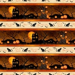 Haunted Night 27587 298 Border Stripe, Wilmington Prints