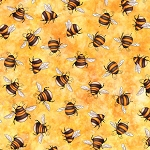 Always Face Sunshine 27847 S Bees Butterscotch, Quilting Treasures