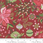 Naughty or Nice 30630 12 Red Winter Floral, Basic Grey by Moda