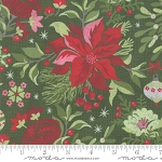 Naughty or Nice 30630 16 Green Winter Floral, Basic Grey by Moda