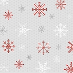 Joy, Love, Peace 3310 90 Red Grey Snowflakes, Studio E
