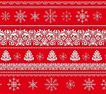 Joy, Love, Peace 3315 88 Yuletide Border Red, Studio E