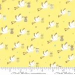 Sweet Baby Flannel 35281 15F Storks Yellow, Abi Hall by Moda