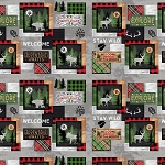 Cabin Welcome Flannel 36101 973 Sampler Wilmington Prints