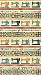 Stonehenge A Stitch in Time Oxidized Copper 39356 11 Sewing Machine Border, Northcott
