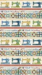 Stonehenge A Stitch in Time 2018 Primary Brights 39356 120 Border, Northcott