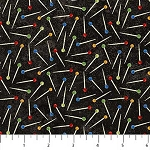 Stonehenge A Stitch in Time 2018 Primary Brights 39359 99 Black Pins, Northcott