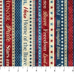 Stonehenge Stars and Stripes 6 39386 24 Patriotic Border, Northcott