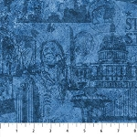 Stonehenge Stars and Stripes 6 39387 49 Blue Patriotic Tonal, Northcott