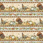 Seeds of Gratitude 39654 248 Repeating Border Stripe, Wilmington Prints